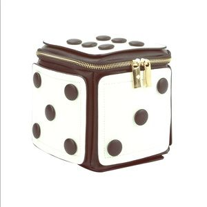 Handbags - Black and White Cube Dice Clutch
